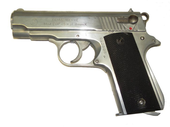 Erma EGP 45, 8mm Knall poliert