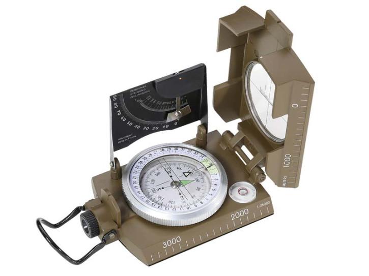 Herbertz-Kompass, flüssigkeitsgedämpfte Kapsel, 360 Grad