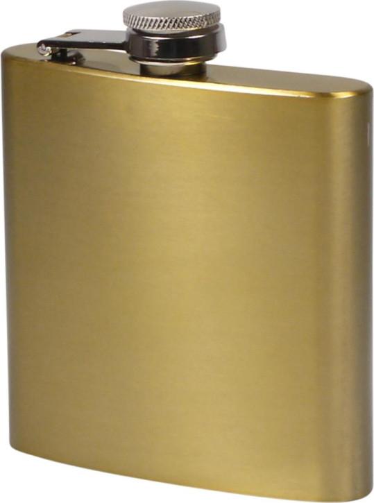 Flachmann Edelstahl bronze metallic glänzend 6oz/180ml