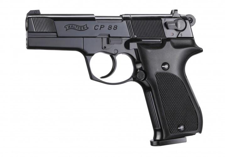 CP88 poliert, brüniert / Kunststoffgriffschalen CO2 Pistole 4,5