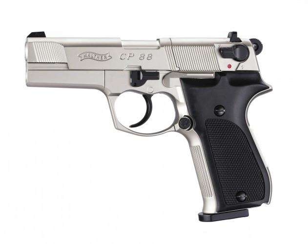 CP88 nickel vernickelt mit Kunststoffgriffschalen CO 2 Pistole
