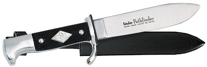 Linder Pfadfindermesser mit Metallgriff Klingenlänge 14 cm
