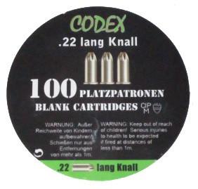Platzpatronen Codex .22 lang, 100 Stk.