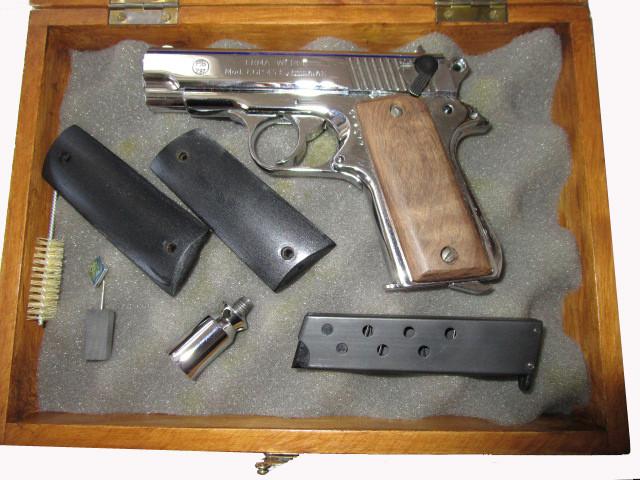 Sammlerpistole Erma EGP 45, verchromt