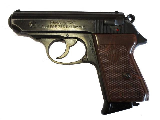 Erma EGP 75s brüniert, 8mm Knall
