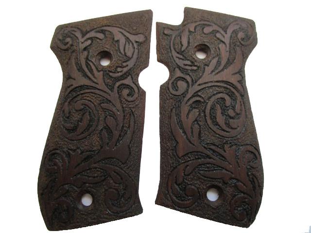 Designer-Holzgriffschalen Arabesken für Weihrauch HW 94