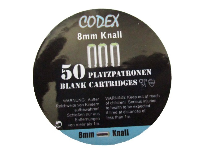 Codex 8mm Platzpatronen