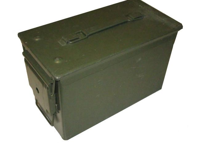 US Munitionskiste Metall Mittel Cal.50/5.56 Neuwertig