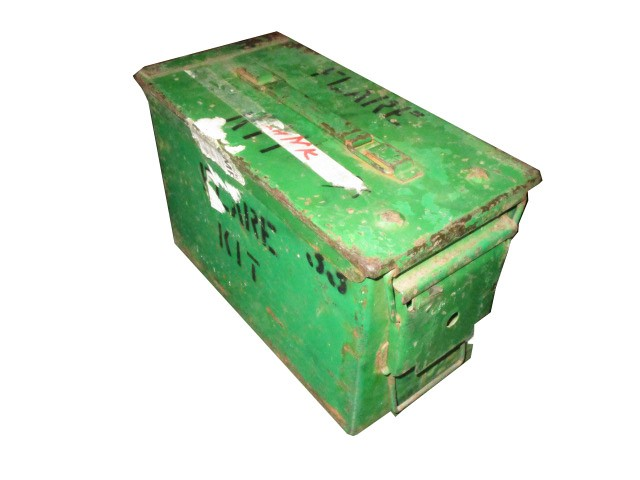 US Munitionskiste Metall Mittel Cal.50/5.56 Gebraucht