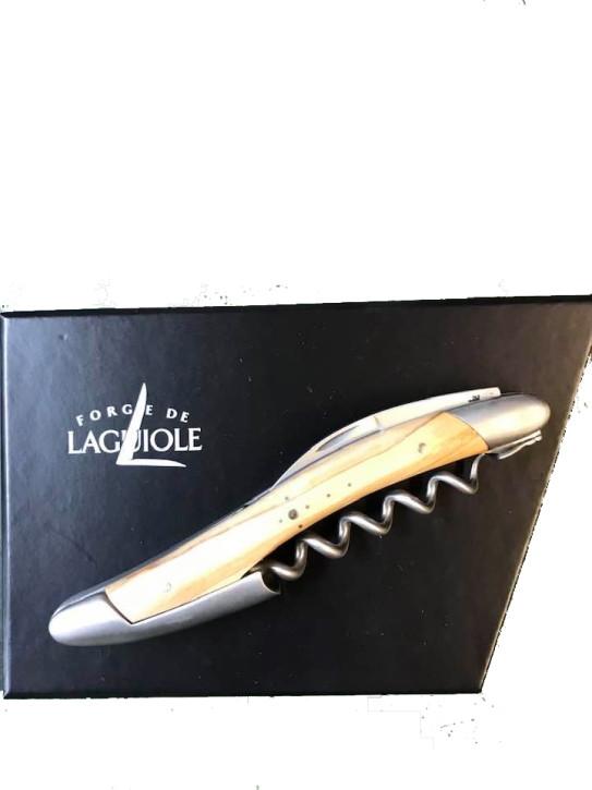 Sommelier Messer, satiniert mit Griff aus Olivenholz