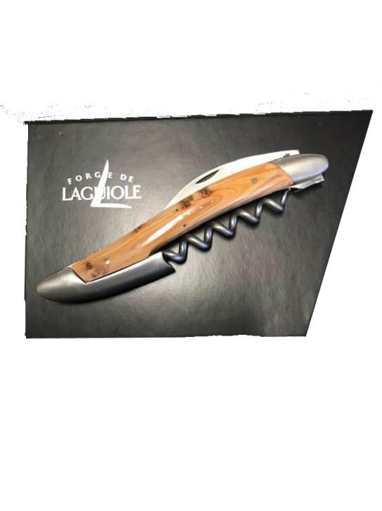 Sommelier Messer, satiniert mit Griff aus Wacholder
