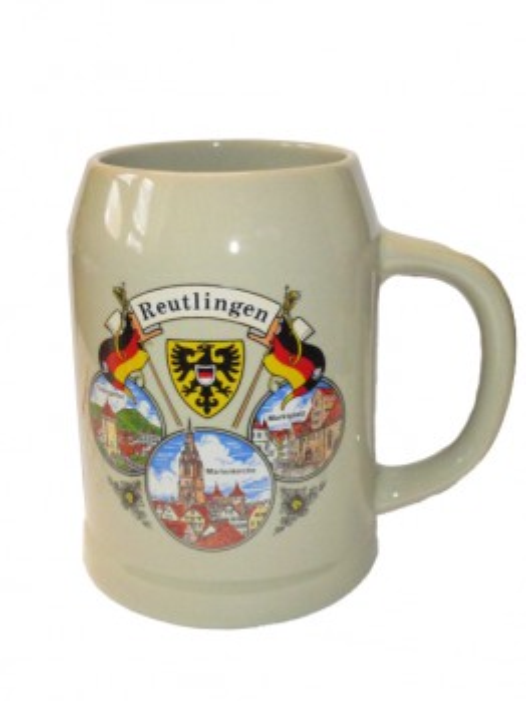 "Steinzeugkrug 0,5 L ""Reutlingen"""