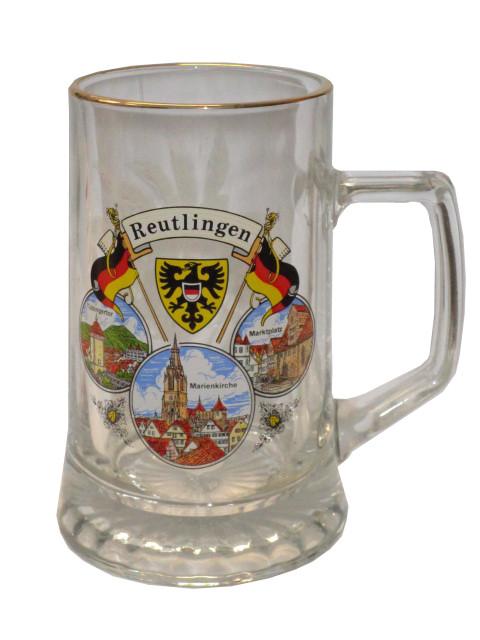 "Sternboden Bierkrug ""Reutlingen"" 0,4L"