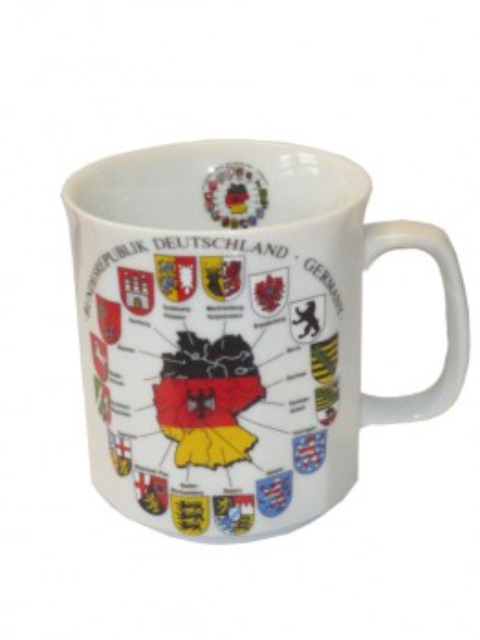 "Tasse eckig ""Bundesländer"""