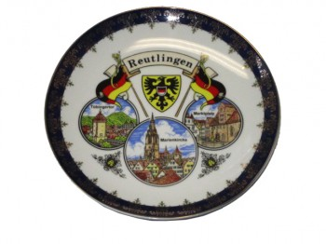 """Teller Kobalt """"Reutlingen"""" 20cm"""