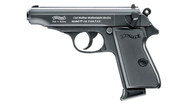 Walther PP brüniert, 9mm P.A.K.