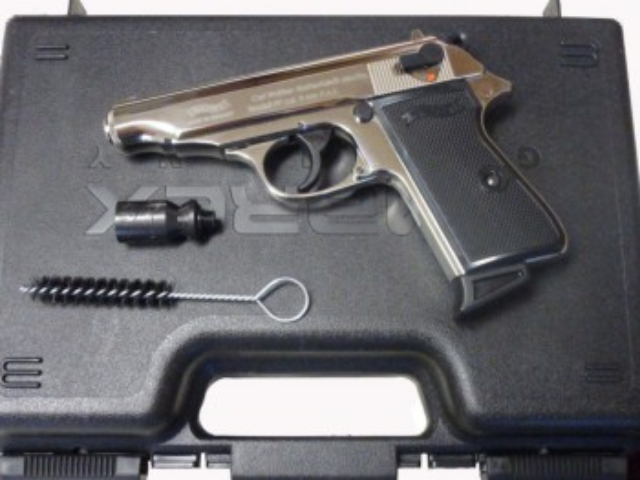 Walther PP, polished Chrome, Gas- Signal- freie Waffen