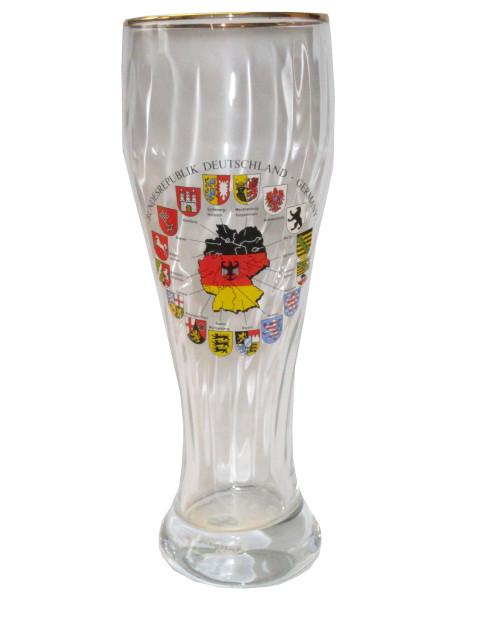 """Weizenglas mit Goldrand """"Bundesländer"""" 0,5L"""