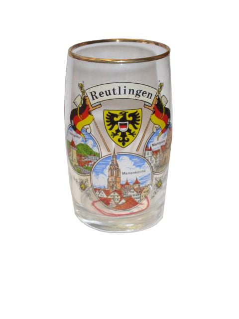 "Winzerbecher mit Goldrand ""Reutlingen"" 0,25l"