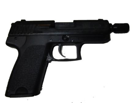 Melcher Modell SP 15 Compact brüniert, Kunststoffgriff Kal.9 PAK