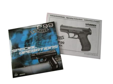Walther P99, Schlitten brüniert, Special Edition  Tradition of Innovation - das sind 130 Jahre Erfahrung in der Herstellung innovativer Waffen. Auch die Polizei setzt auf moderne Waffentechnologie mit dem Markenzeichen Walther.  Als Gas-Signal-Waffe unter