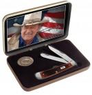 Case SS John Wayne Dark Red Bone - Trapper GiftSet