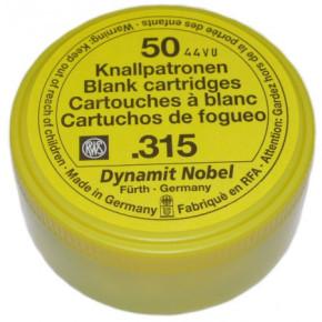 50 Stück Platzpatronen Kaliber .315 Inhalt RWS