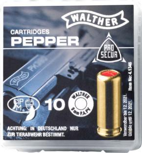 Walther Pfeffer-Gas Patronen cal. 9 mm P.A.K. 10 Schuss