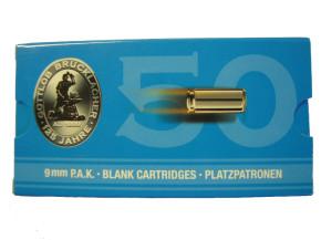 50 Schuß Platzpatronen 9 mm P.A.K. mit eigener Verpackung