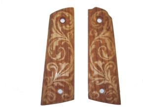 Designer-Holzgriffschalen Arabesken für Colt 1911