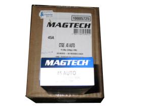 20 Schachteln Pistolenpatronen Magtech Kaliber 45 ACP FMC 14,90 g / 230 gr